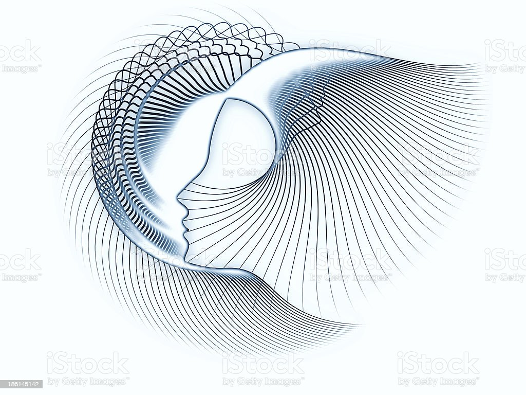 Reality of Soul Geometry stock photo