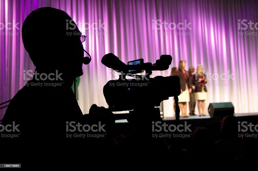 Reality TV Show Camera Man stock photo