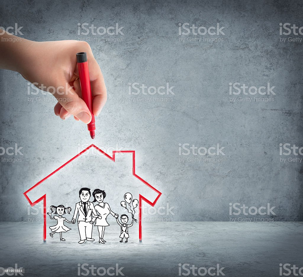 realization of your house - aid to the family stock photo