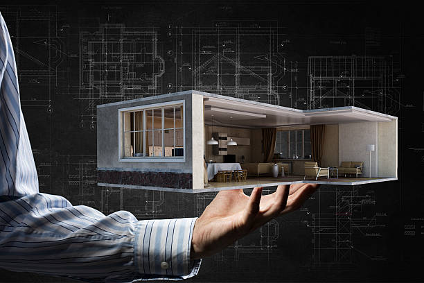 Realize your interior dream . Mixed media stock photo