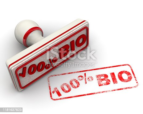 istock Really a natural product. Seal and imprint 1181637623