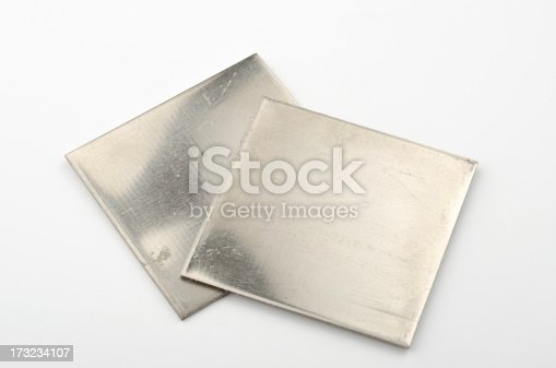 Collection of some pure chemical elements with 99,9% clarity. Here shown Nickel.