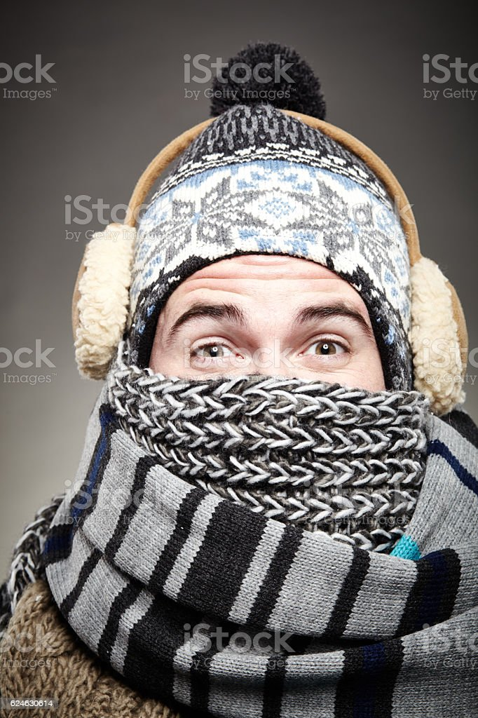 really cold winter stock photo