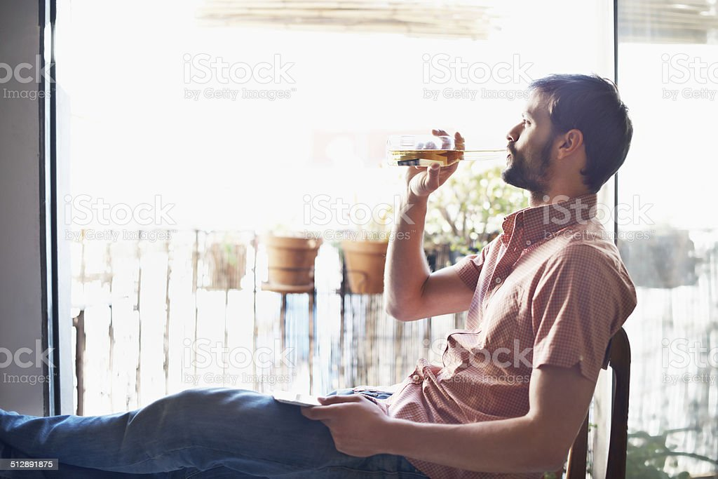 Really enjoying that beer stock photo