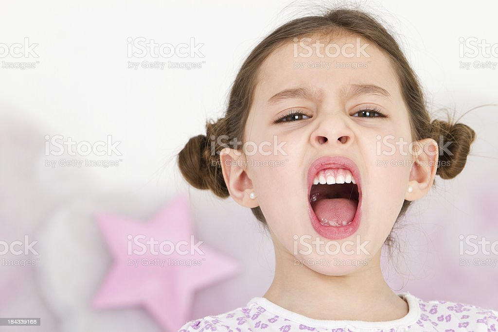 Really furious little girl royalty-free stock photo
