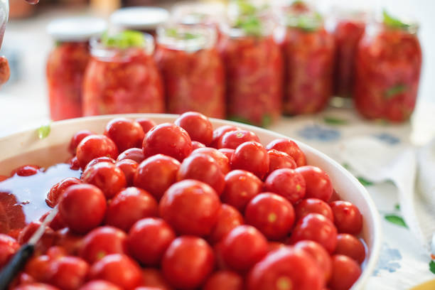 Really Italian handmade tomato sauce stock photo