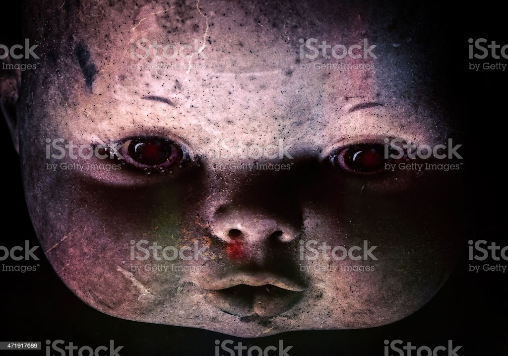 Really Scary Antique Doll Stock Photo - Download Image Now