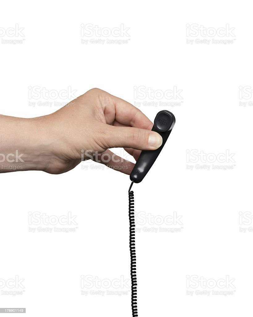 Really Very Small Phone Receiver royalty-free stock photo