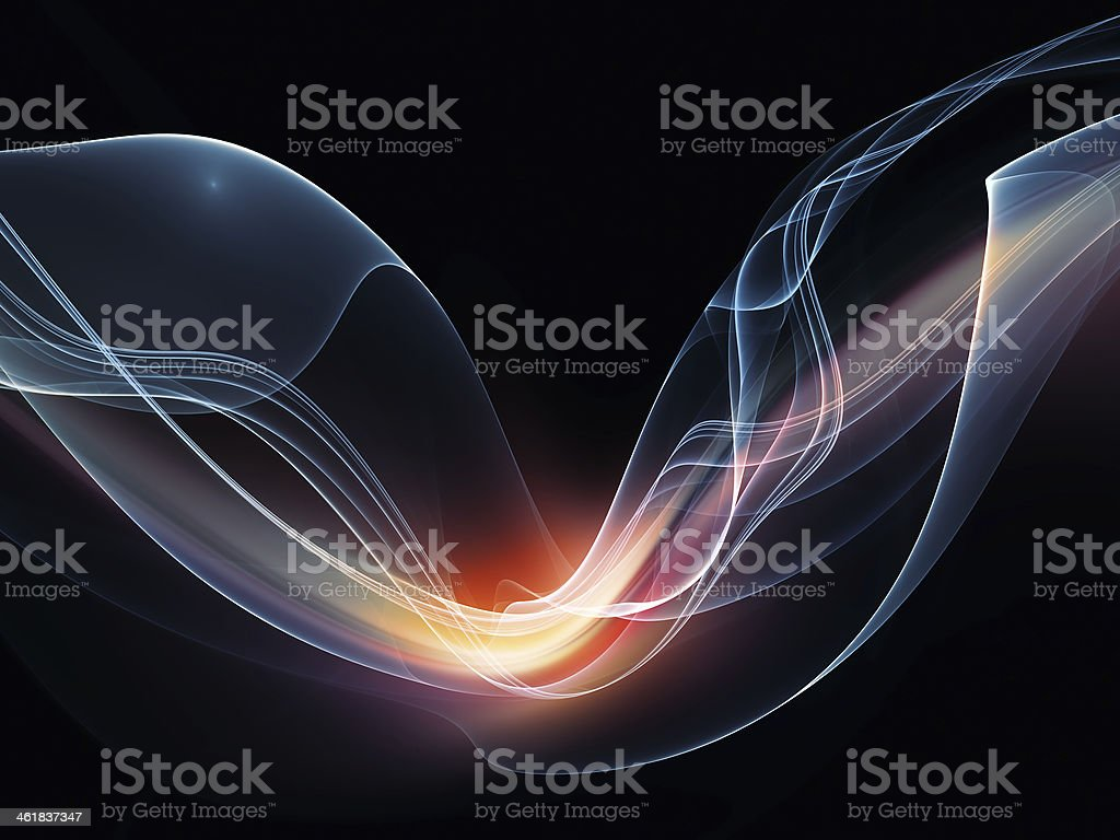 Realms of Fractal Waves royalty-free stock photo
