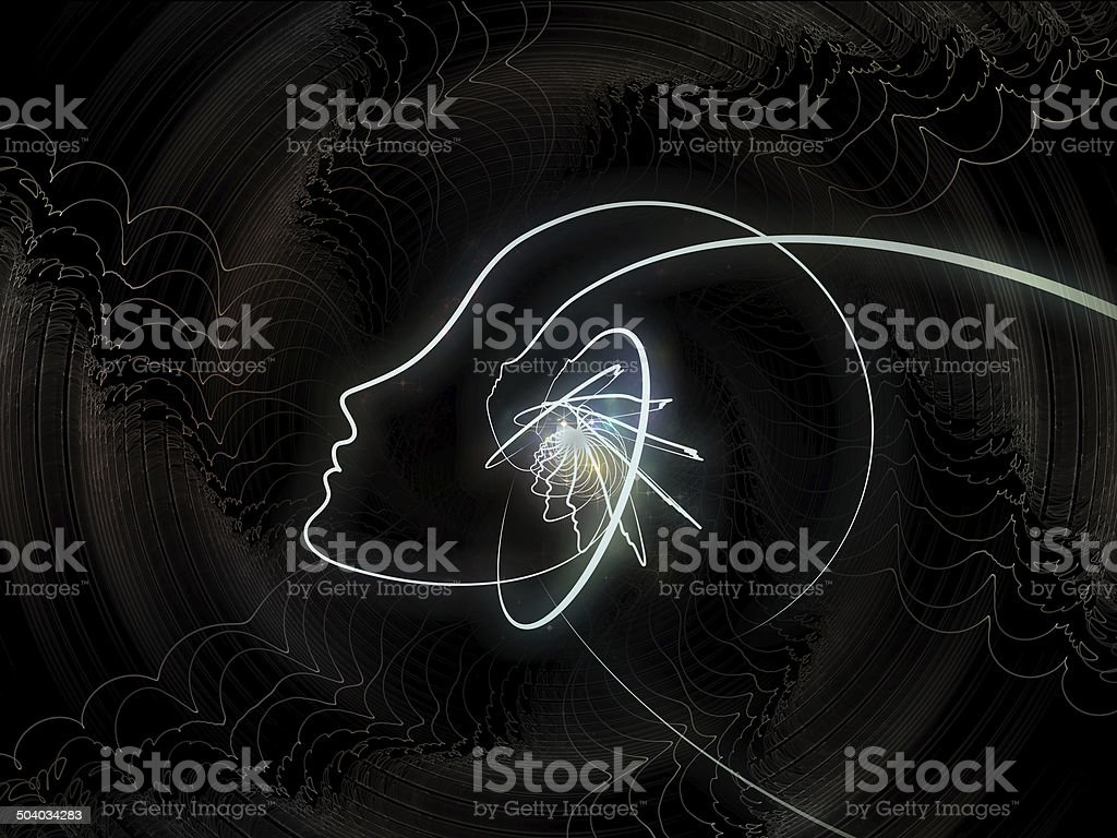 Realms of Soul Geometry stock photo