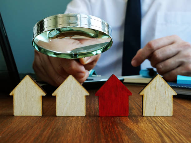 Realtor looking for home. Real estate investment trusts REITs investing concept. stock photo