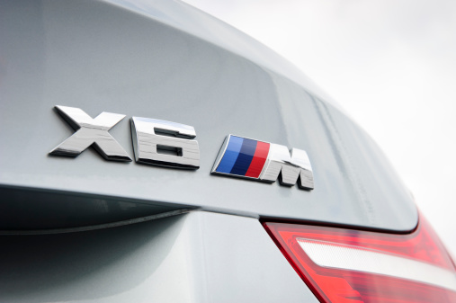 istock BMW X6 M Rear Badge 458579985