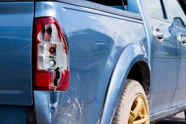 hintere Autolichter Cracked aus Unfall – Foto