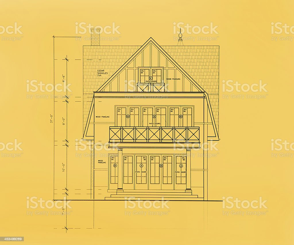 rear elevation view royalty-free stock photo