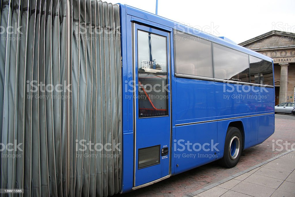 rear end of long bus royalty-free stock photo