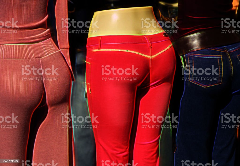 Rear ends stock photo