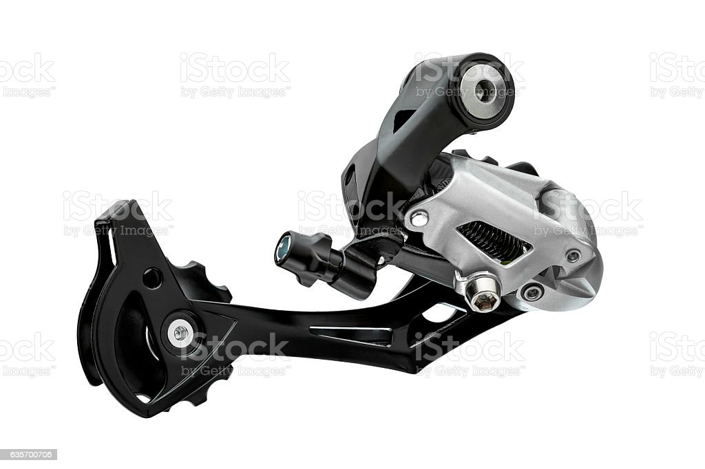 Rear gearshift Bicycle transmission change speed. royalty-free stock photo