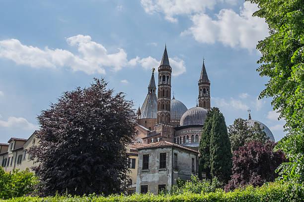 Rear of Basilica Sant Antonio, Padua, Italy stock photo
