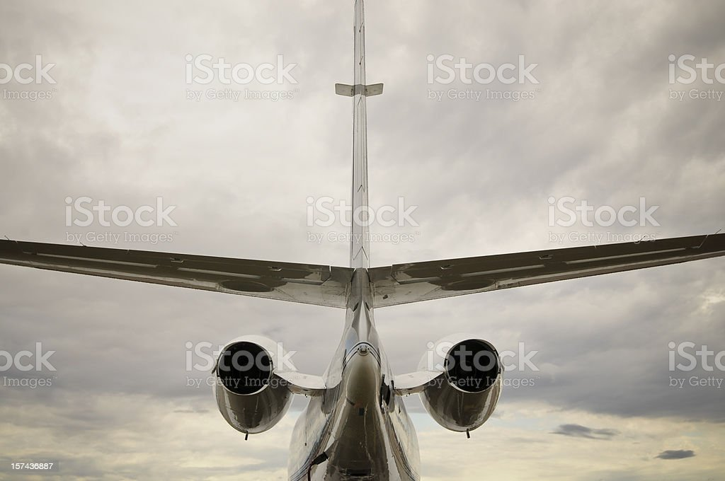 Rear of Business Jet stock photo