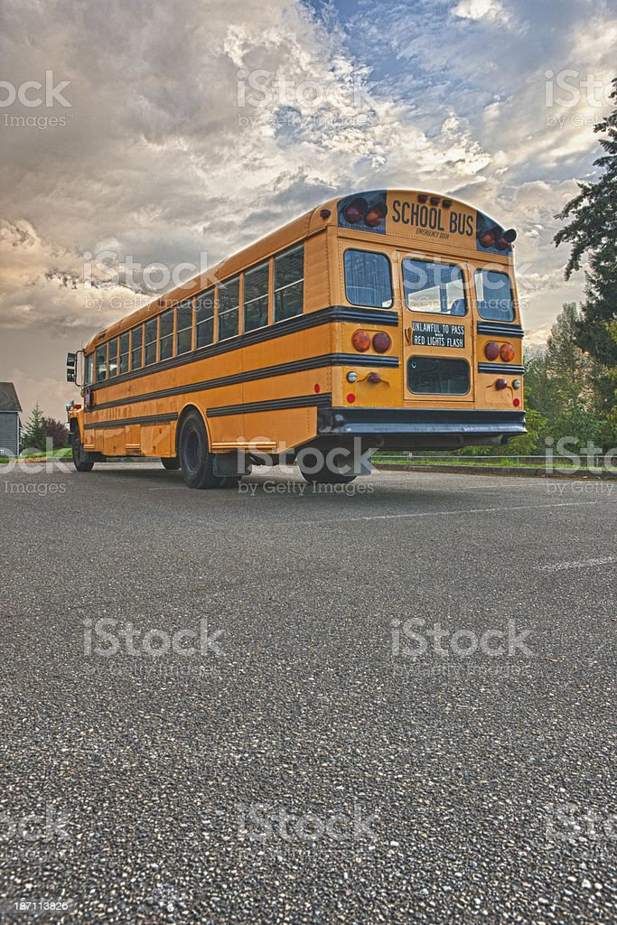 Rear of School Bus royalty-free stock photo