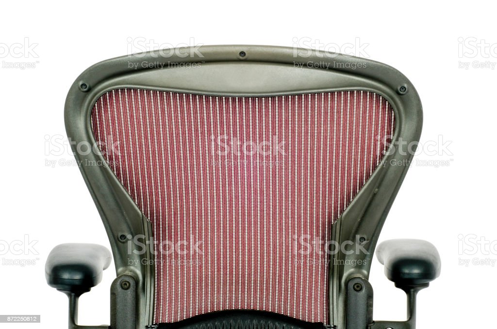 Rear of the Backrest of an Office Chair stock photo