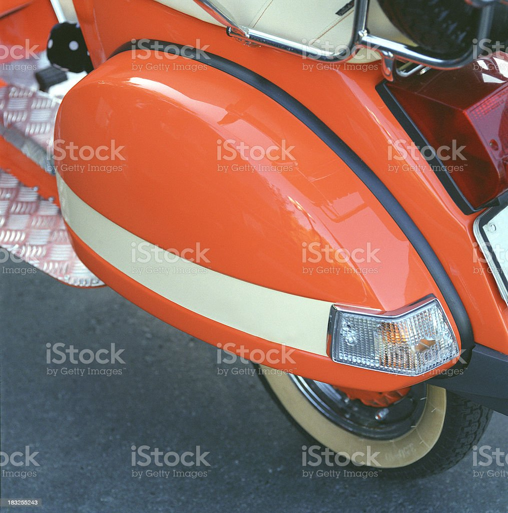 Rear of the Orange Scooter royalty-free stock photo