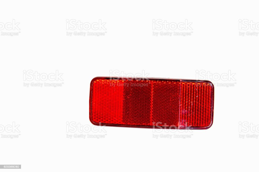 Rear red reflectors for  bike wheel foto de stock royalty-free