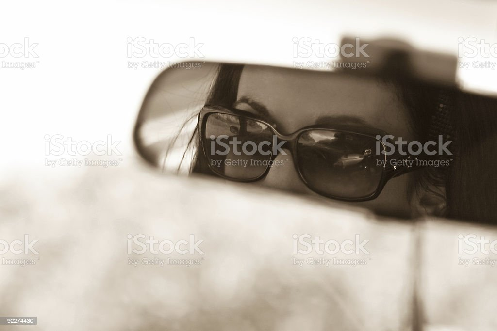 Rear View Mirror royalty-free stock photo