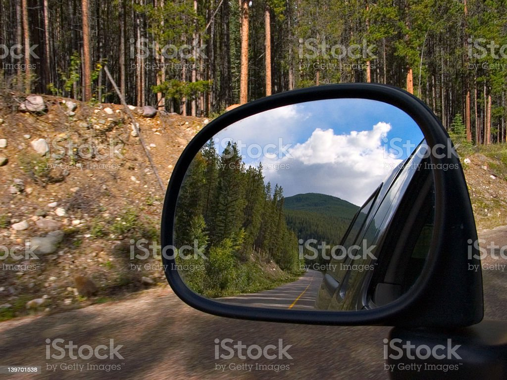 Rear View Mountain royalty-free stock photo