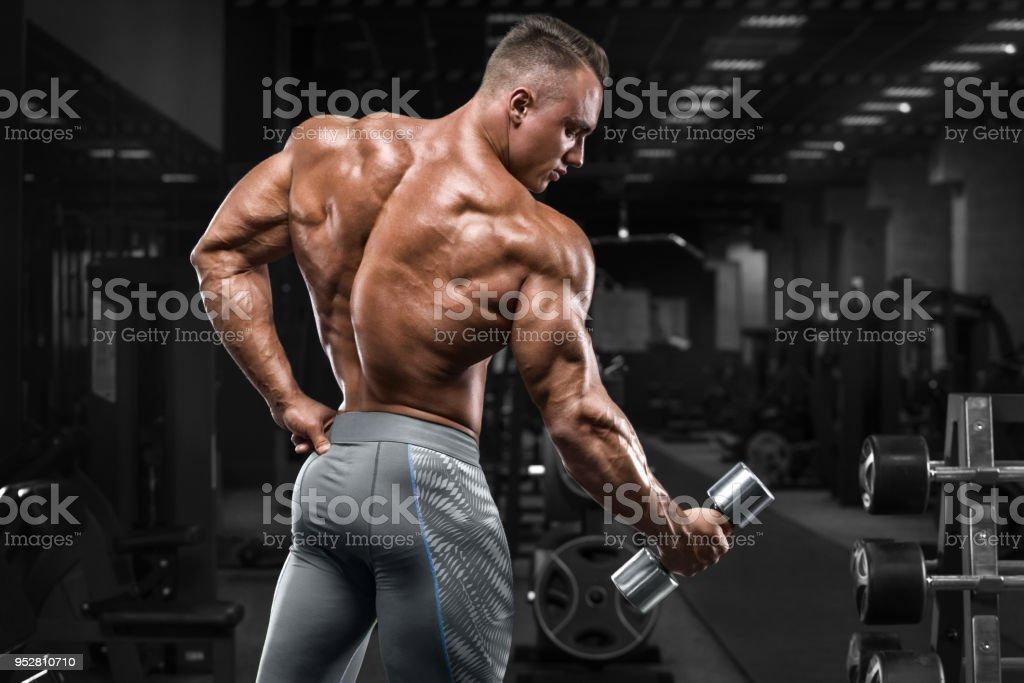 Fotografía de Parte Posterior Vista Hombre Musculoso Mostrando En El ...