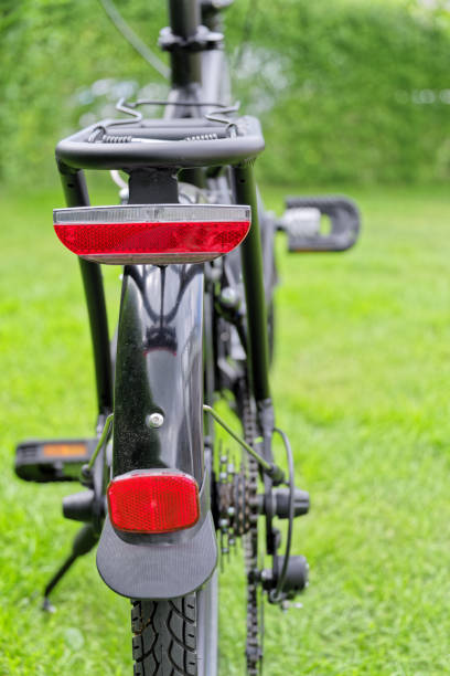 Rear view of a bicycle stock photo