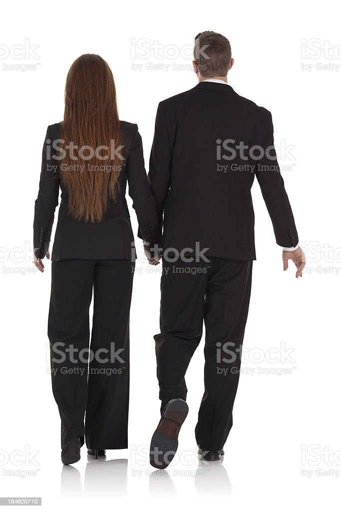 Rear view of a business couple royalty-free stock photo
