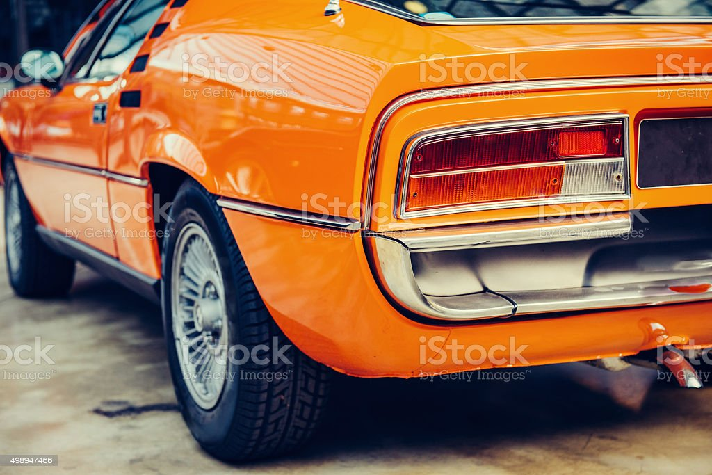 Rear view of a car stock photo