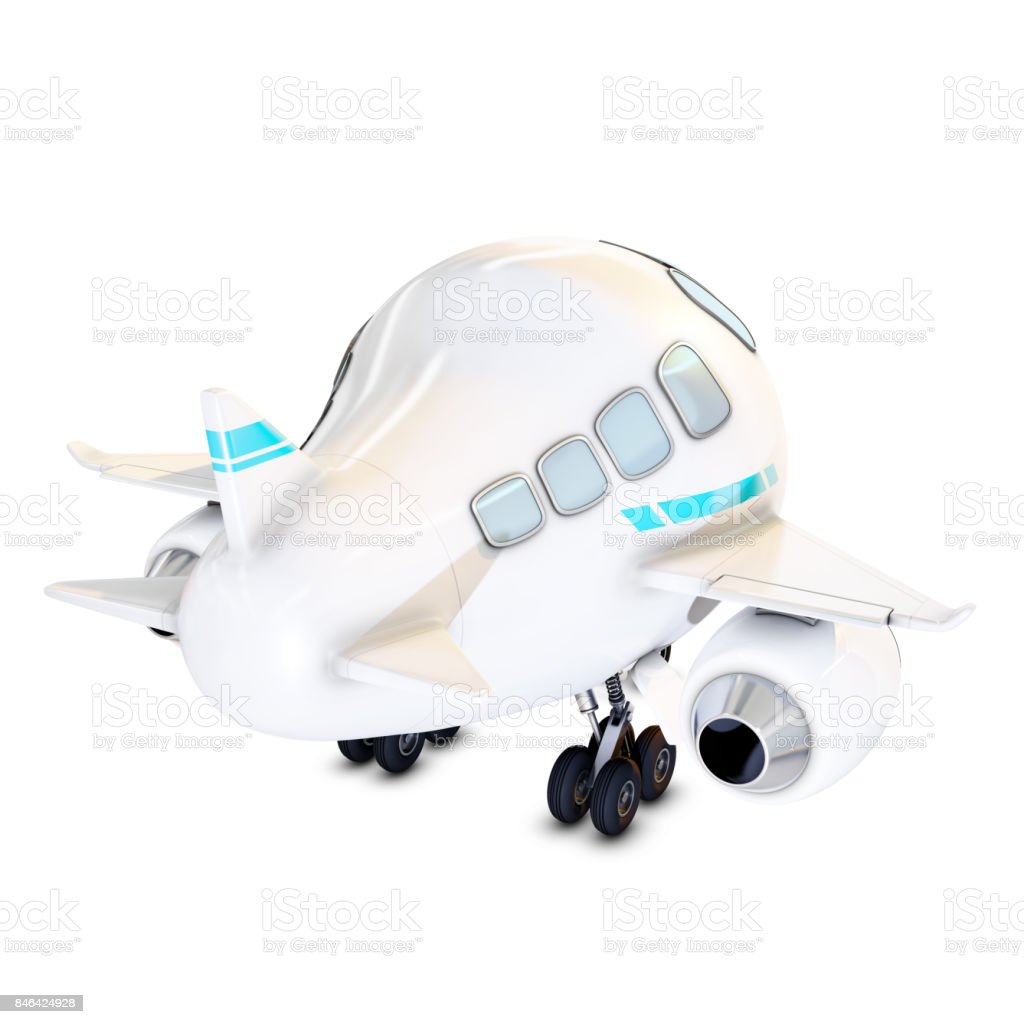 rear view of a funny plane stock photo