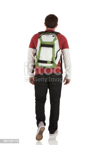 istock Rear view of a man walking 185100775