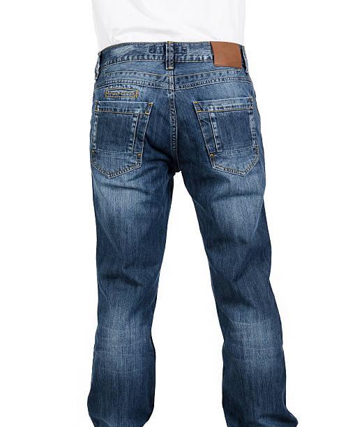 Jeans com rótulos em branco - foto de acervo