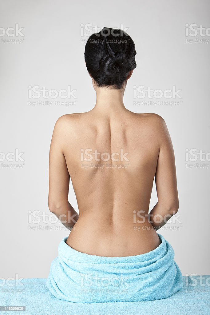 Rear view of a nude woman royalty-free stock photo