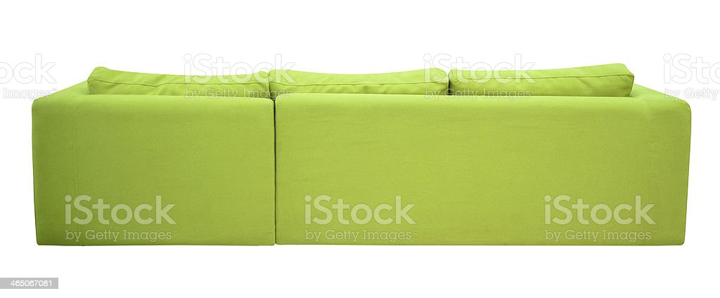 Rear view of a sofa. stock photo