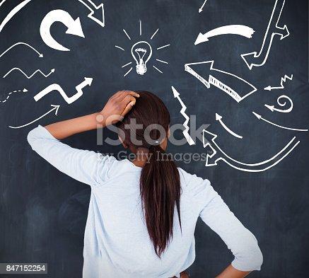 istock Rear view of a woman having an idea 847152254