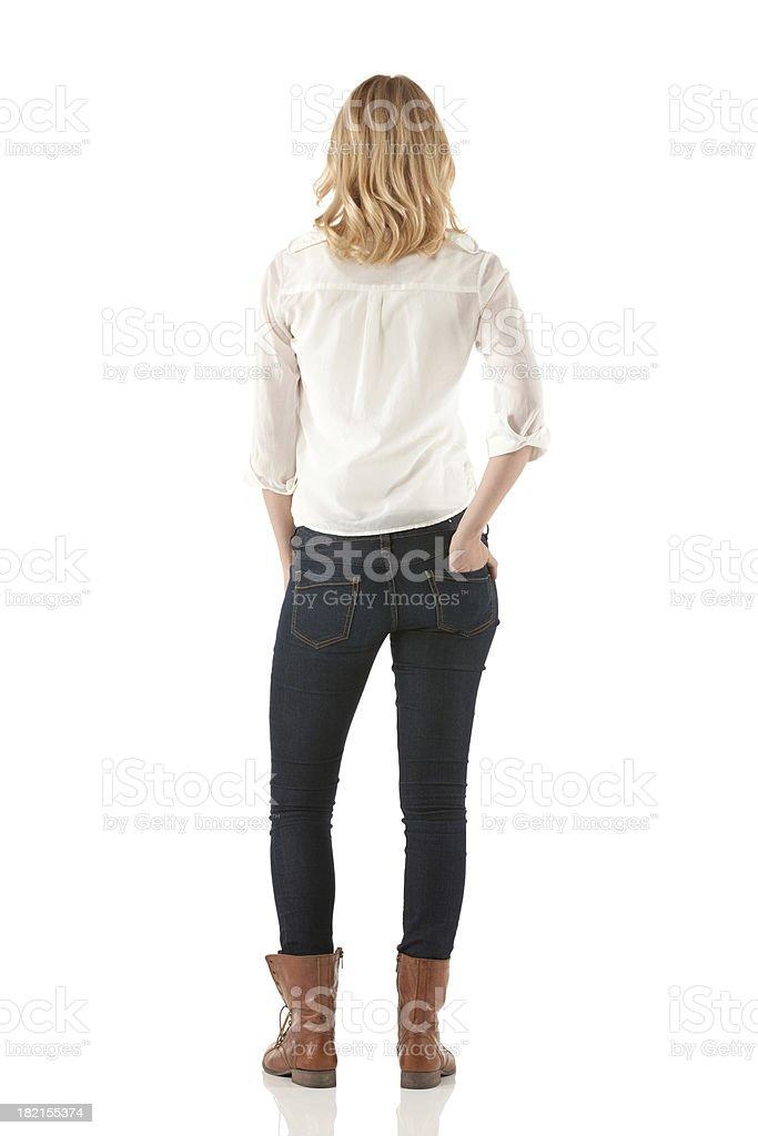 Vue arrière d'une femme debout - Photo