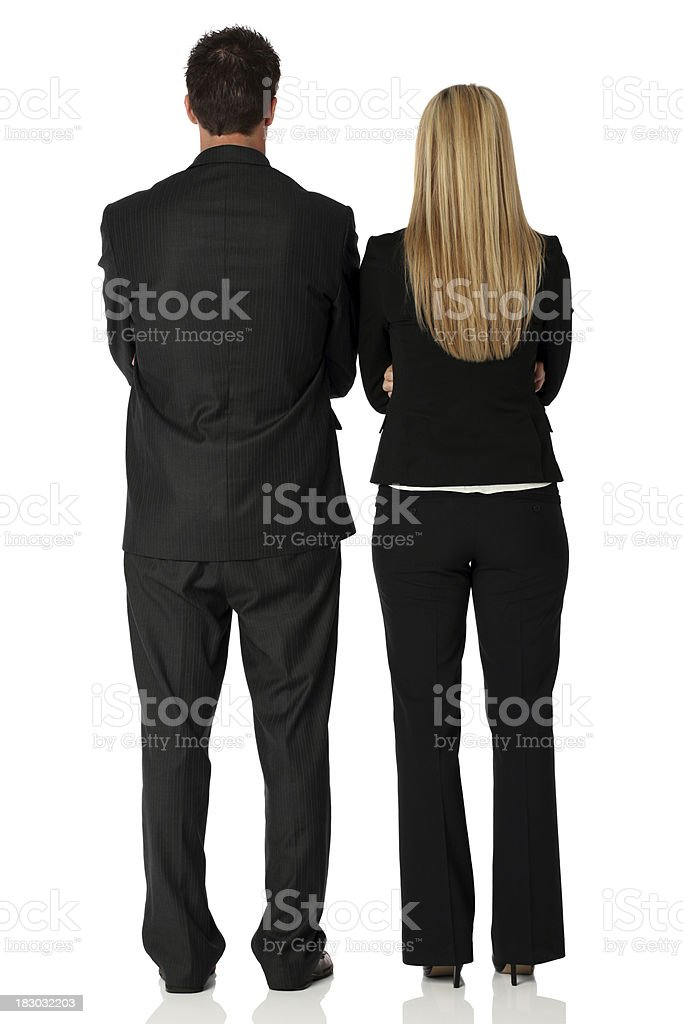 Rear view of business couple royalty-free stock photo