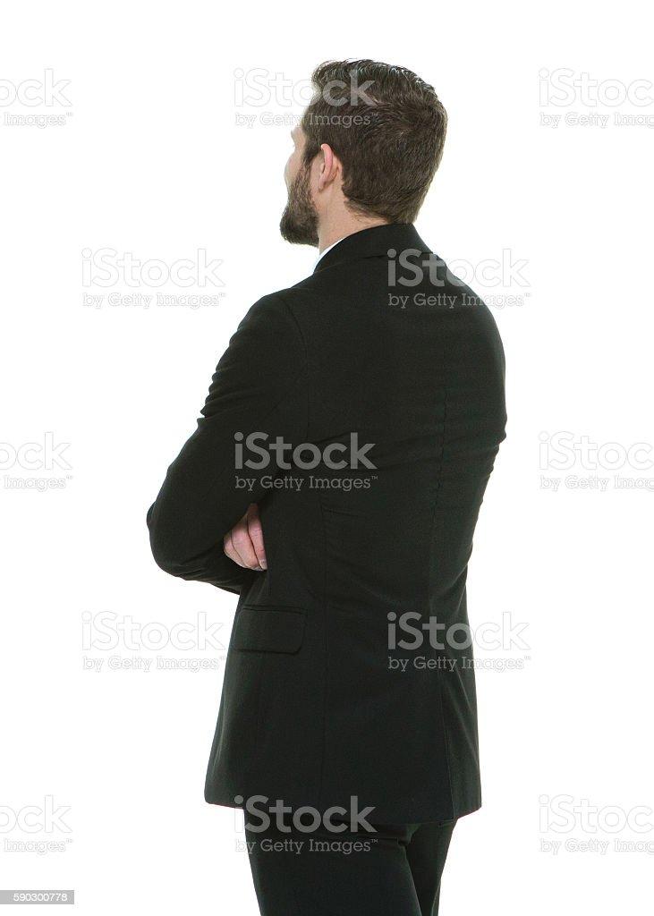 Rear view of businessman standing royaltyfri bildbanksbilder