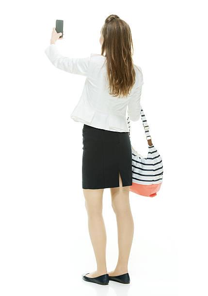 背面の写真を撮りビジネスウーマン - 後ろ姿 ストックフォトと画像
