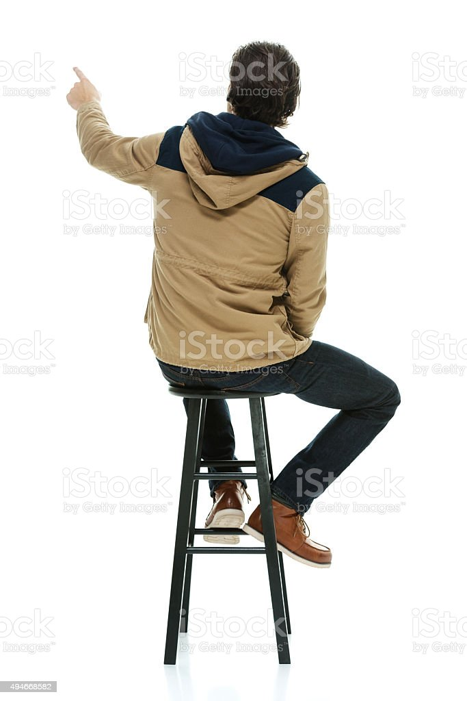 Stool Sitting Rear View People Pictures Images And Stock