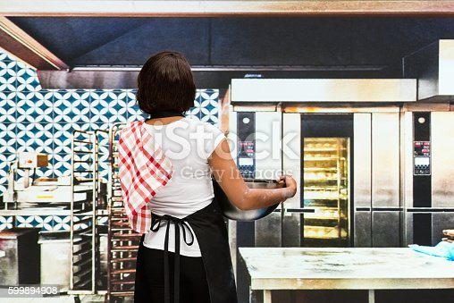 545282128istockphoto Rear view of chef standing in kitchen 599894908