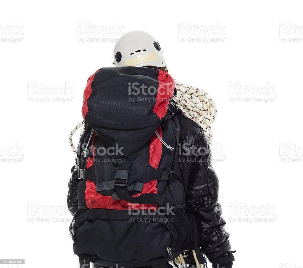 Rückansicht der Kletterer stehend Lizenzfreies stock-foto