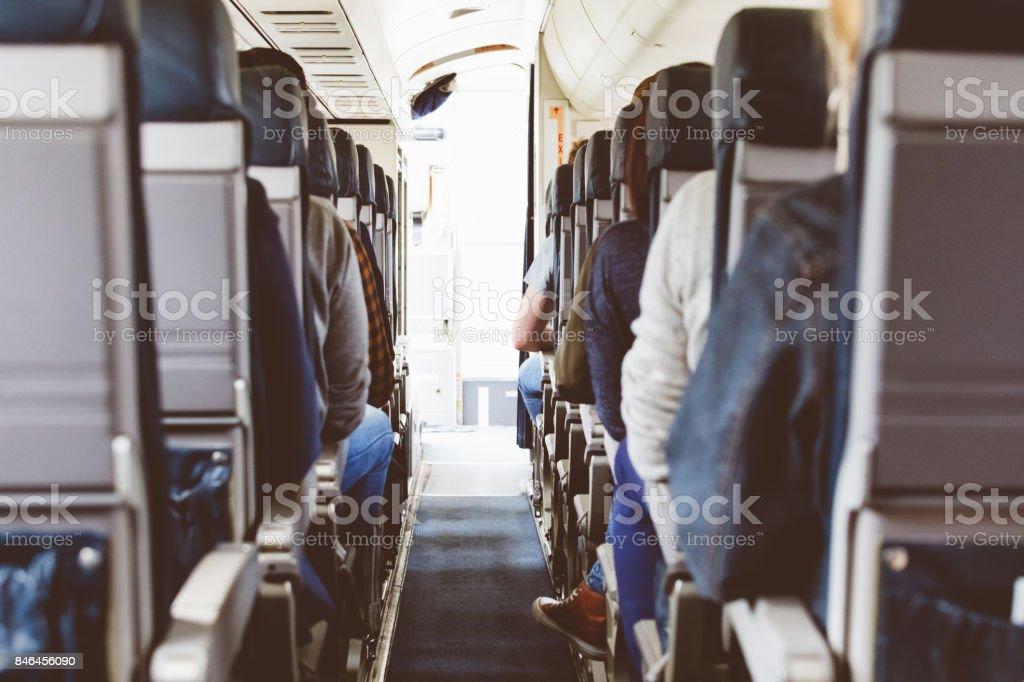 Rückansicht des Verkehrsflugzeug-Kabine – Foto
