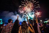 fireworks on black background