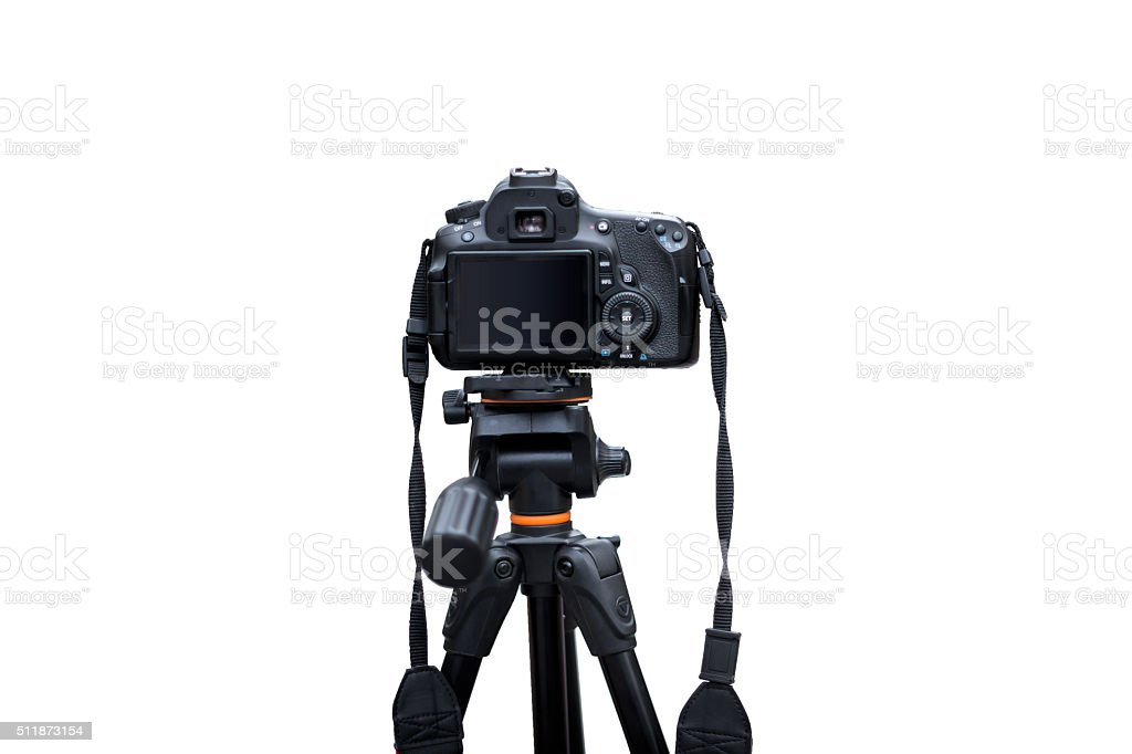 Rear View of Digital Camera stock photo