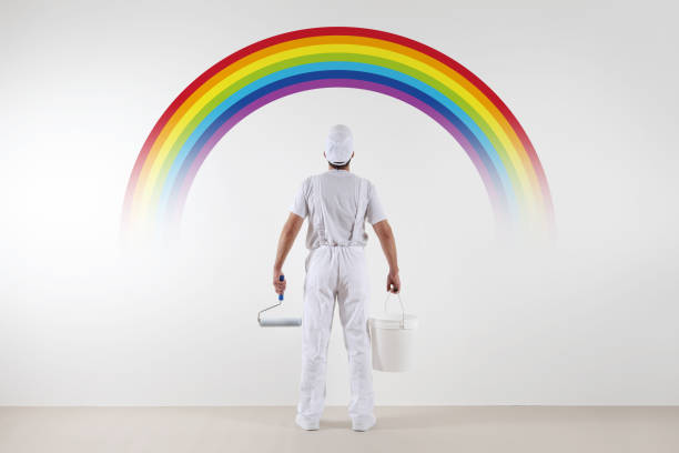 Rear view of painter man looking rainbow at blank wall with paint picture id687498786?b=1&k=6&m=687498786&s=612x612&w=0&h=k5ymnwir7t1y10muin3ws dse3bqcx eyjqi esmtva=